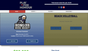 Play For Honour homepage