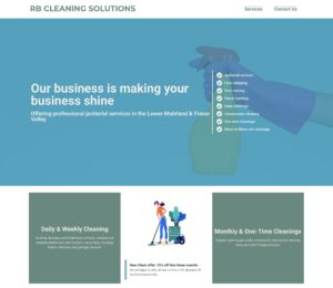 RB Cleaning Solutions homepage