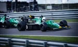 Racing cars on track