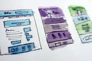 Website template sketches